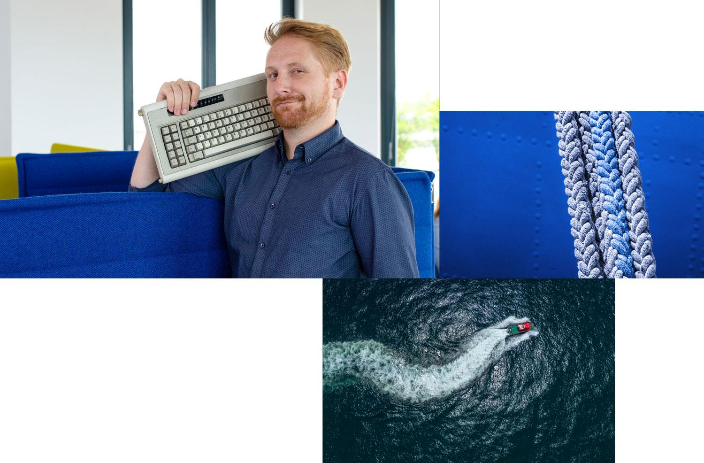 Mitarbeiter mit Tastatur